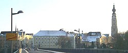 Braunau town centre, seen from the Inn bridge