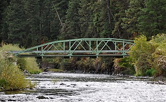 Minam, Oregon - Bridge over the Wallowa River at Minam