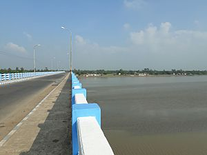 Canning, South 24 Parganas - Bridge over the Matla river on the way of Canning to Jharkhali