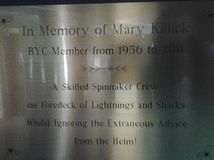 Britannia Yacht Club memorial Mary Killick.jpg