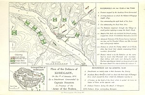 Battle of Koregaon - British defence plan during Battle of Koregaon