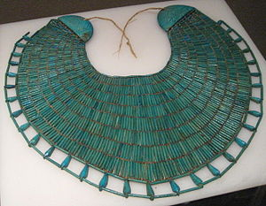 Necklace - Broad collar beaded Egyptian necklace of the 12th dynasty official Wah from his Theban tomb