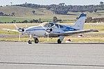 Broken Hill Aviation (VH-EZF) Beechcraft E55 Baron at Wagga Wagga Airport (1).jpg