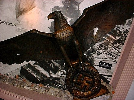 Bronze eagle from Speer's Chancellery, now in the Imperial War Museum - Albert Speer