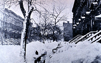 Great Blizzard of 1888 - Image: Brooklyn blizzard 1888