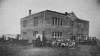 Broxton, Oklahoma - Broxton Consolidated School, 1918