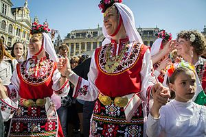 Music of Bulgaria - Bulgarian folk dances in Brussels, Bulgaria's EU Commissioner Kristalina Georgieva initiative