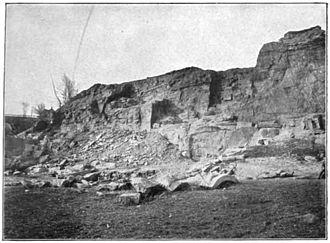 Ellicott City, Maryland - Gaither's Quarry, Ellicott City, photographed approximately 1898