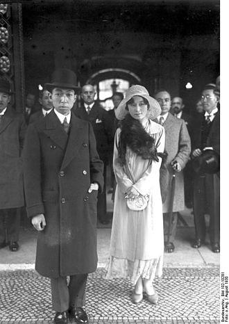 Nobuhito, Prince Takamatsu - Prince and Princess Takamatsu in Berlin around 1930