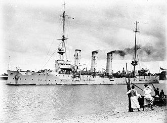 Königsberg-class cruiser (1905) - Image: Bundesarchiv Bild 105 DOA3002, Deutsch Ostafrika, Kreuzer Königsberg