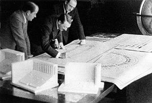 Albert Speer - Adolf Hitler looks over the designs for Nuremberg
