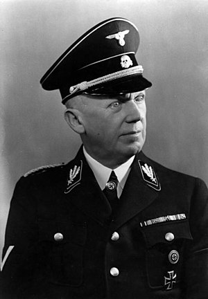 Uniforms and insignia of the Schutzstaffel - SS-Gruppenführer Hans Heinrich Lammers in black Allgemeine-SS uniform 1938