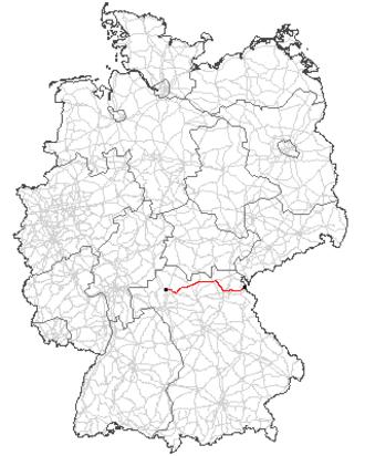 Bundesstraße 303 - Image: Bundesstraße 303 Verlauf