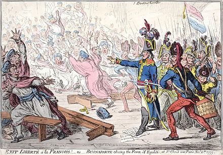 Gillray's caricature of the 18 Brumaire coup Buonaparte closing the farce of Egalite.jpg