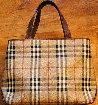 Fashion accessory - Burberry-brand handbag