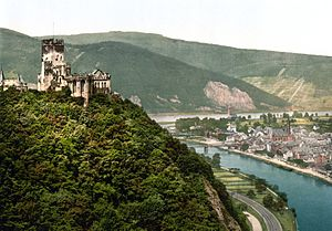 Lahnstein - Image: Burg Lahneck 1900