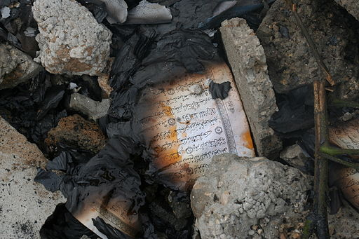 Burned Quran Pages - Flickr - Al Jazeera English