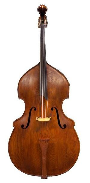 Double bass - Example of a Busetto-shaped double bass: remake of a Matthias Klotz (1700) by Rumano Solano