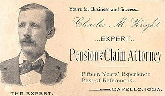 Business card - An attorney's business card, 1895