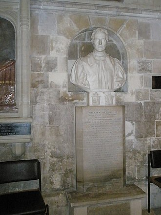 William Otter - Bust of William Otter in Chichester Cathedral