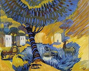 Martiros Saryan - Image: By the Well. Hot Day, 1908
