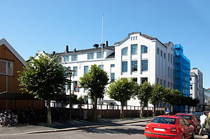 Sandefjord - The elementary school Byskolen in city centre.