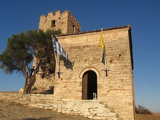 Byzantine tower at Nea Fokea 03