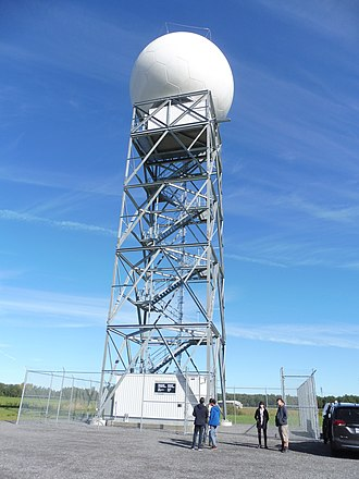 Blainville, Quebec - Blainville radar part of the Canadian weather radar network commissioned in 2018.