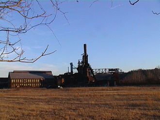 Homestead Steel Works - Carrie Furnace, a blast furnace across the Monongahela River from the main site