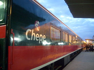 Ferrocarril Chihuahua al Pacífico - El Chepe at terminal station, 8 February 2009