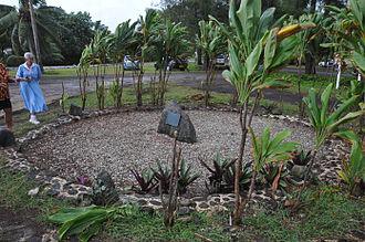 Ngatangiia - Circle of stones commemorates the Cook Islanders who colonized New Zealand