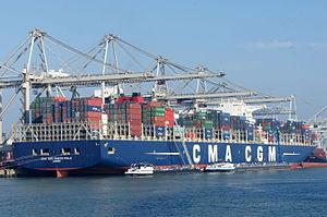 CMA CGM Marco Polo - CMA CGM Marco Polo, Port of Rotterdam