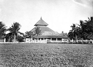 Demak Great Mosque - Pictures of Masjid Agung Demak at the end of the 19th century