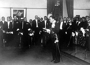 Paku Alam VIII - Paku Alam VIII at his enthronement ceremony in 1937
