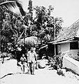 COLLECTIE TROPENMUSEUM Straatgezicht met man en jongen in het dorp Cisolok TMnr 20000029.jpg