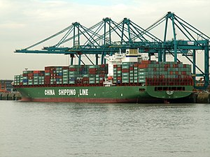 CSCL Asia IMO 9285976 , at Port of Antwerp, Belgium 09-Sep-2005.jpg