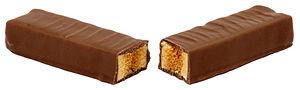 Crunchie - A Crunchie split in half.