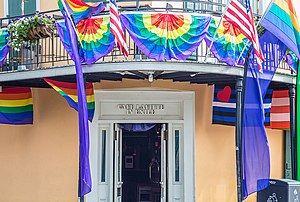 Cafe Lafitte in Exile - Cafe Lafitte in Exile on Bourbon Street in New Orleans, opened in 1953,  claims to be the oldest gay bar in the United States.