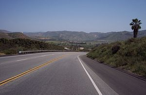 California State Route 78 - SR 78 eastbound east of Escondido