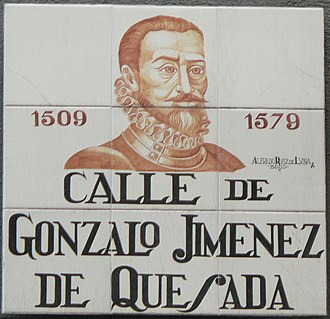 Hernán Pérez de Quesada - Image: Calle de Gonzalo Jiménez de Quesada (Madrid)