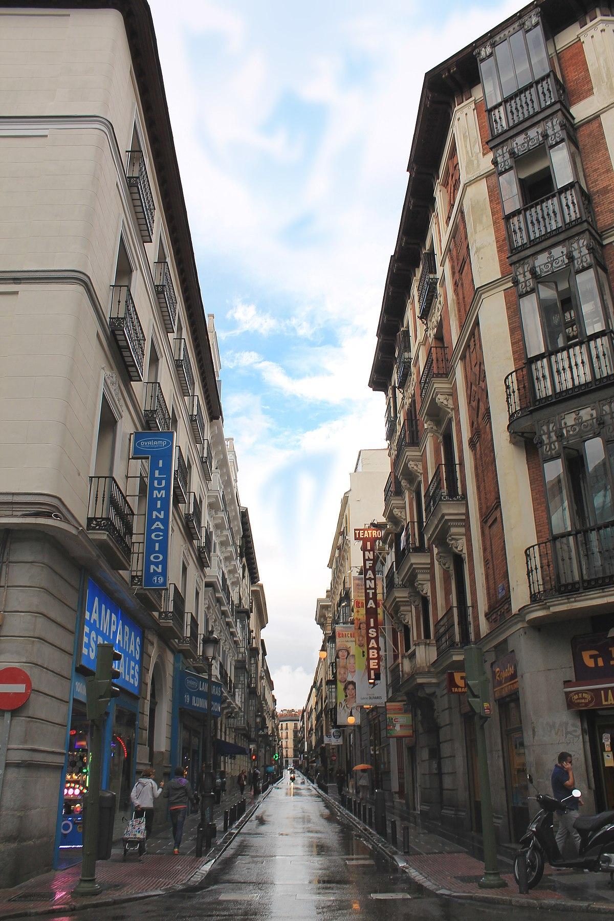 Calle del barquillo wikipedia la enciclopedia libre - Calle nebulosas madrid ...
