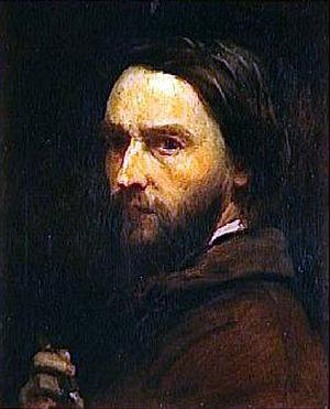 Adolphe-Félix Cals - Adolphe-Félix Cals - self-portrait (1851)
