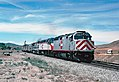 Caltrain locomotives on the Coast Starlight, August 2004.jpg