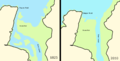 Camel Estuary 1825 and 2010.png