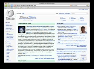 Camino (web browser) - Image: Camino screenshot