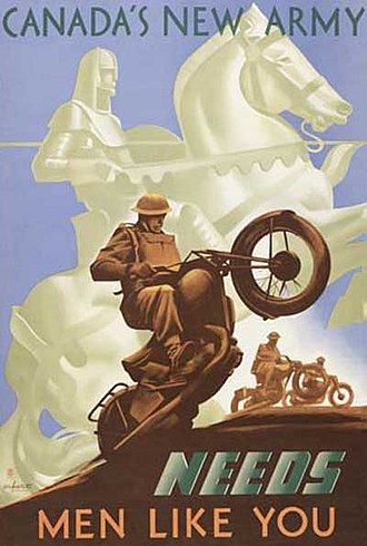 Military history of Canada during World War II - World War II poster from Canada