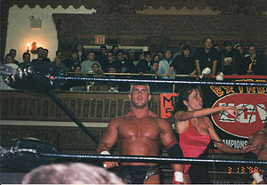 Francine Fournier - Francine (right) with Chris Candido in 1998