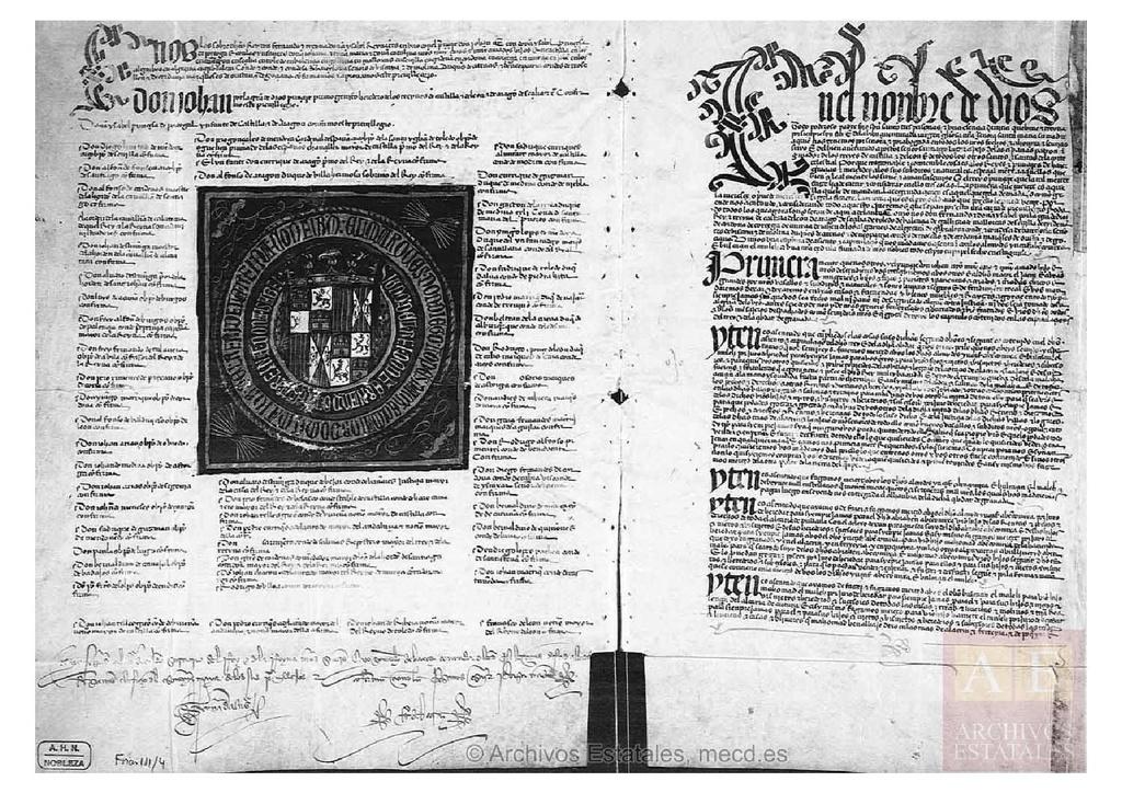 Archivo capitulaciones de granada en archivo duques de - Paginas amarillas de granada ...