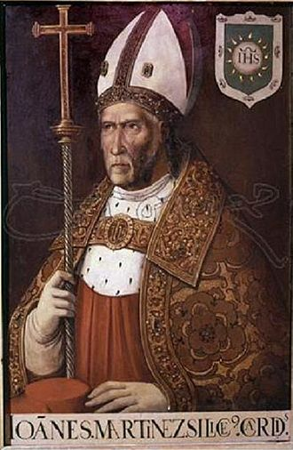 Francisco de Comontes - Portrait of Juan Martínez Silíceo, Archibishop of Toledo, now in the Cathedral of Toledo