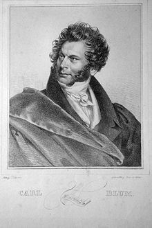 Carl Blum, Lithograph by Joseph Teltscher (Source: Wikimedia)
